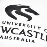 University logo on jumper using applique