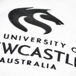 University logo on jumper using applique