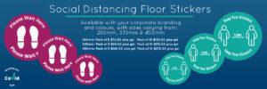 Social Distance - Floor Stickers