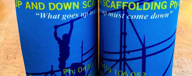Up and Down Scaffolding - Sublimated stubby holder