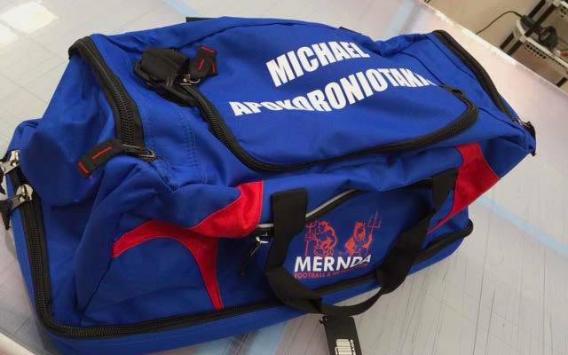 Mernda FC -Sports bag with Digital heat transfer